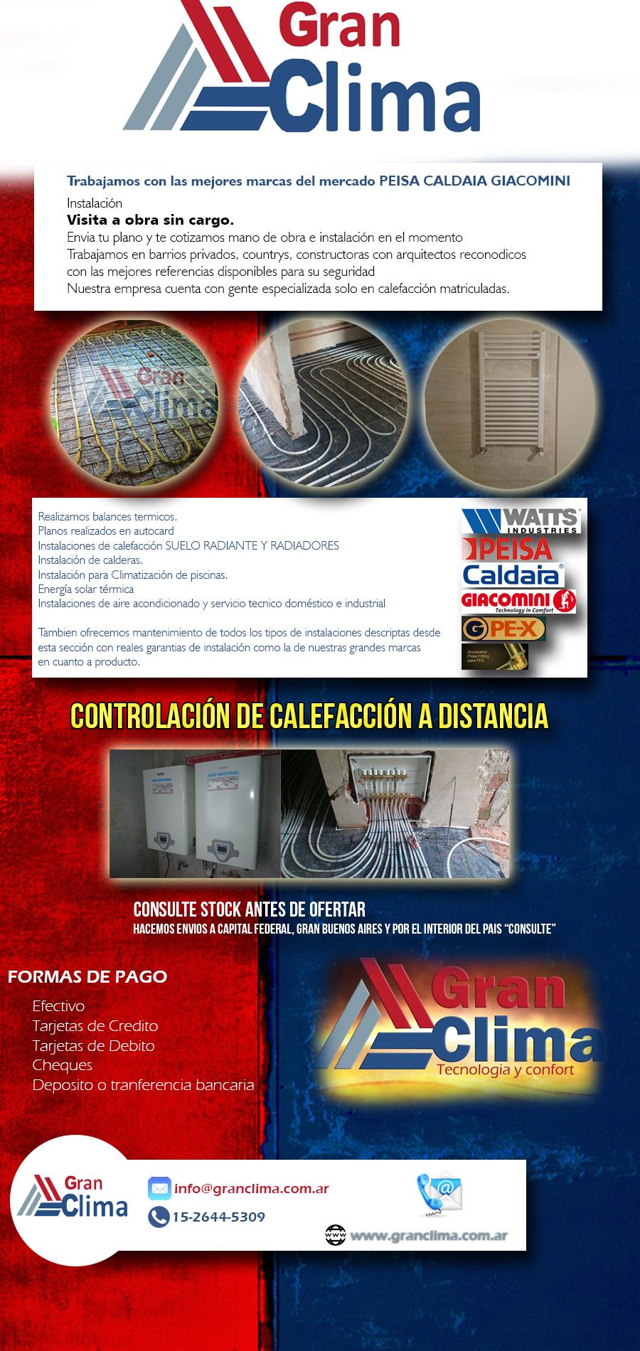 Piso Radiante Calderas Radiadores Calefaccion Instalaci N En  ~ Precio Instalacion Calefaccion Radiadores